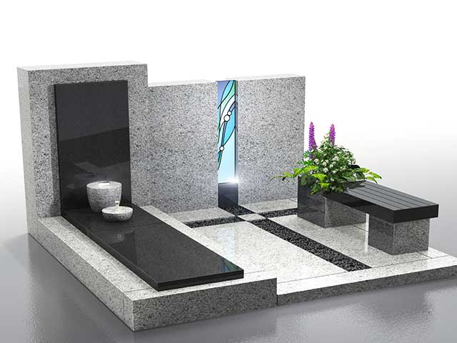 墓庭 墓石×アートガラス